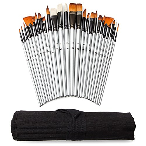 Art Owl Studio 36 Paint Brush Set Natural Amp Synthetic