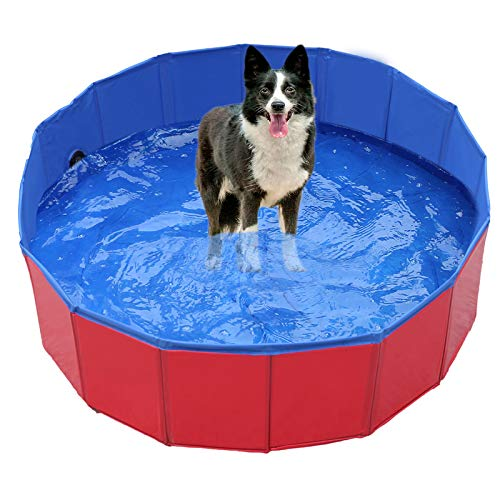 Pet-Foldable-Swimming-Pool-Dogs-Cats-Bathing-Tub-Portable-Bathtub-Collapsible-Water-Pond-Pool-Kiddie-Pools-for-Kids-Pet-Spa-Whelping-Box-KiddiesRed8020cm
