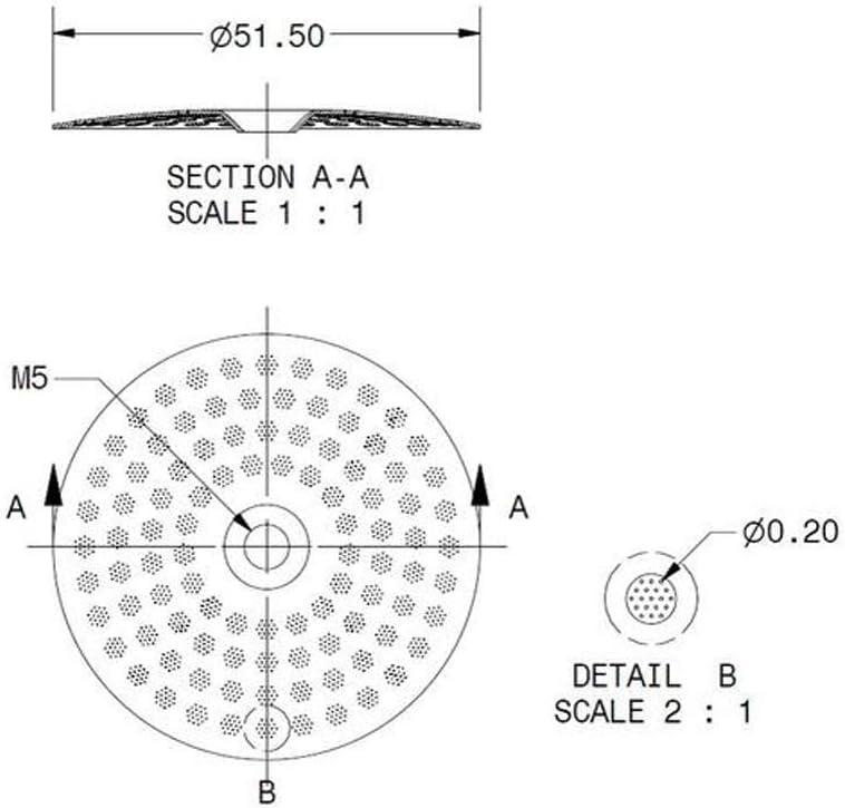 Silicone Gasket Rancilio IMS RA 200 NT Shower Screen 200 microns Nano Quartz