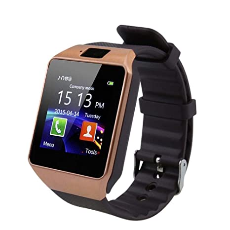 Reloj Inteligente con Bluetooth Cawono Gold DZ09 con Llamada ...