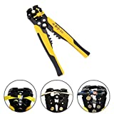 Iglobalbuy 3 In 1 8'' Automatic Electric Cable Wire Stripper Cutter Crimper Stripper Pliers Terminal Tool W/Self-adjusting Jaws AWG24-10 (0.2~6.0mm²)