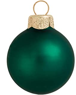 40ct matte emerald green glass ball christmas ornaments 15