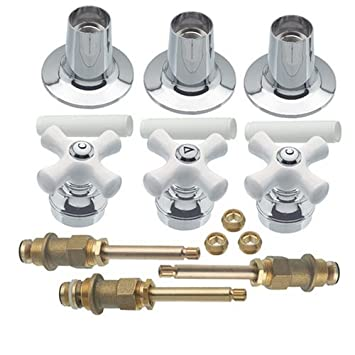three handle tub and shower faucet. Danco 39696 Trim Kit with Cross Arm Handles for Price Pfister Three Handle  Tub
