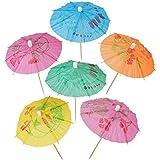Umbrella Picks for Drinks, Cocktail Drink Umbrellas - Hawaiian Party and Pool Party Supplies - Paper Parasol Umbrella Picks Bulk Pack, Box of 144