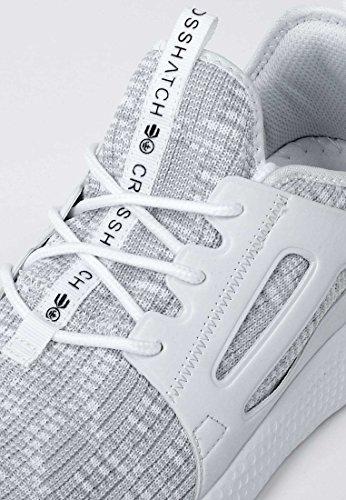 Hommes Crosshatch Turbo Designer Lace Up Running Running Blanc - Gris