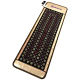 4 Gems FIR Bio Magnetic Mat - Natural Hot Stones - Amethyst Jade Tourmaline Agate - - Far InfraRed Heating Pad - 10Hz PEMF - Negative Ion - FDA Registered Manufacturer (Compact Pro 71''L x 24''W)