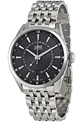 Oris Artix Automatic Black Dial Stainless Steel Mens Watch