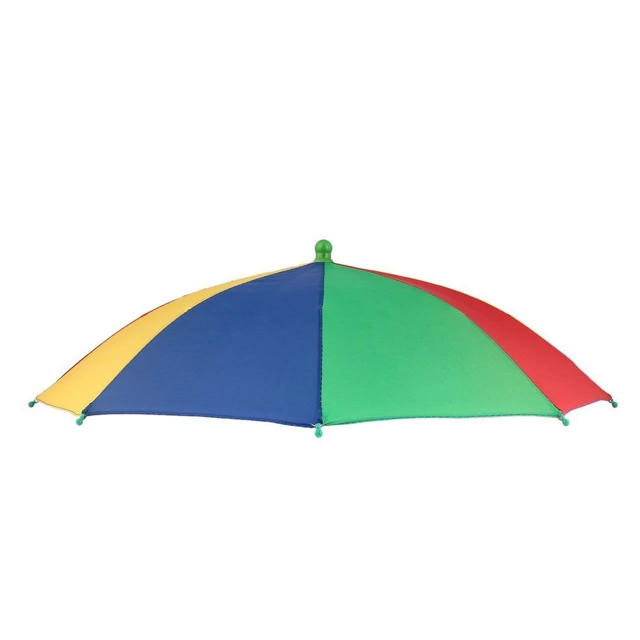 Jasnyfall Beweglicher Fischen-kampierender Strandschirm-Hut-Mehrfarbenkappe Sun-Regen-Regenschirm Nagelneuer hei/ßer Mehrfarbig