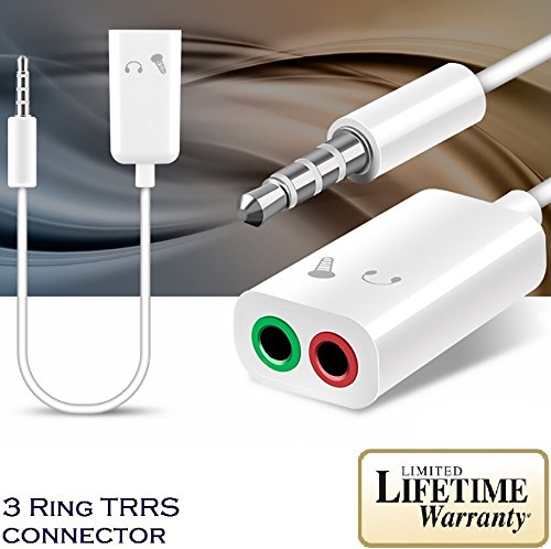 Josi Minea PC Headset to 3.5mm Smartphone Adapter: Convert PC Headset to 3.5mm TRRS Plug Compatible with Apple iPhone 6/6S/6+/5S/SE iPad Samsung Galaxy S9/S8/S7/S6 & Most Devices