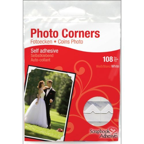 (3L Scrapbook Adhesives Self-Adhesive Creative Paper Photo Corners, White, 108-Pack by SCRAPBOOK ADHESIVES BY 3L)