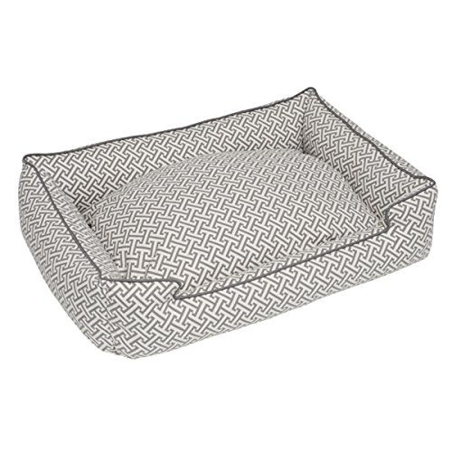 Jax and Bones 39 x 32 x 10 Standard Everyday Cotton Lounge Dog Bed, Large, Hera Grey
