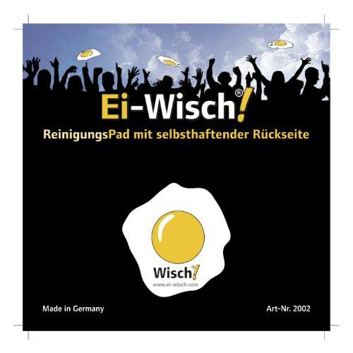 Ei Wisch - Limpiador de Huevo Frito Forma Pad Paño de Microfibra de Alta tecnología Autoadhesivo 40 mm de diámetro: Amazon.es: Electrónica
