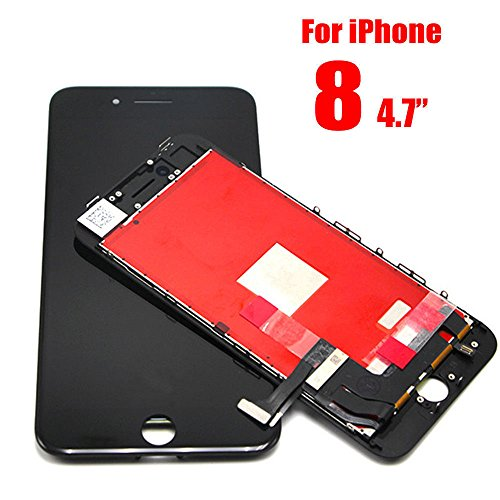 Compatible Black iPhone 8 4.7 Inch LCD Replacement Digitizer Display Touch Screen Full Set Assembly 3D Touch Tool kit
