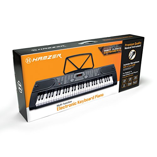 Hamzer 61-Key Digital Music Piano Keyboard - Portable Electronic Musical Instrument - with Stand & Microphone - Image 5