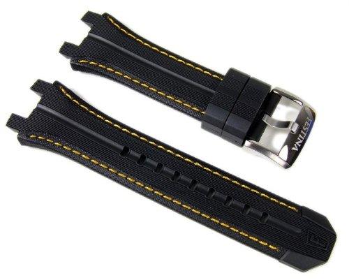 Festina Correa de Reloj caucho Band negro/amarillo 23mm para F16350/4