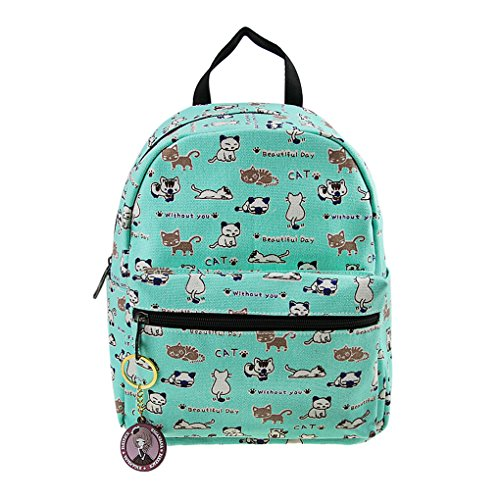 Girl's Cute Cartoon Cat Printed Kindergarten Backpack Daypack Kids Primary School Book Bag Toddler Mini Snack Toy Bag -