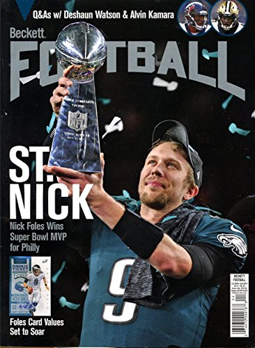 Beckett Football Monthly Price Guide April 2018 Super Bowl Mvp Nick Foles