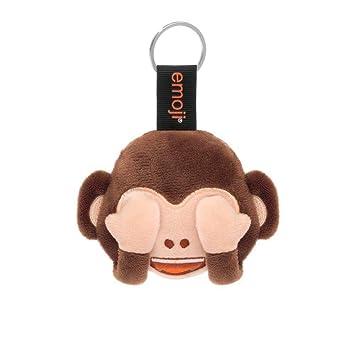 Emoji - Llavero Mono con Ojos tapados marrón: Amazon.es ...