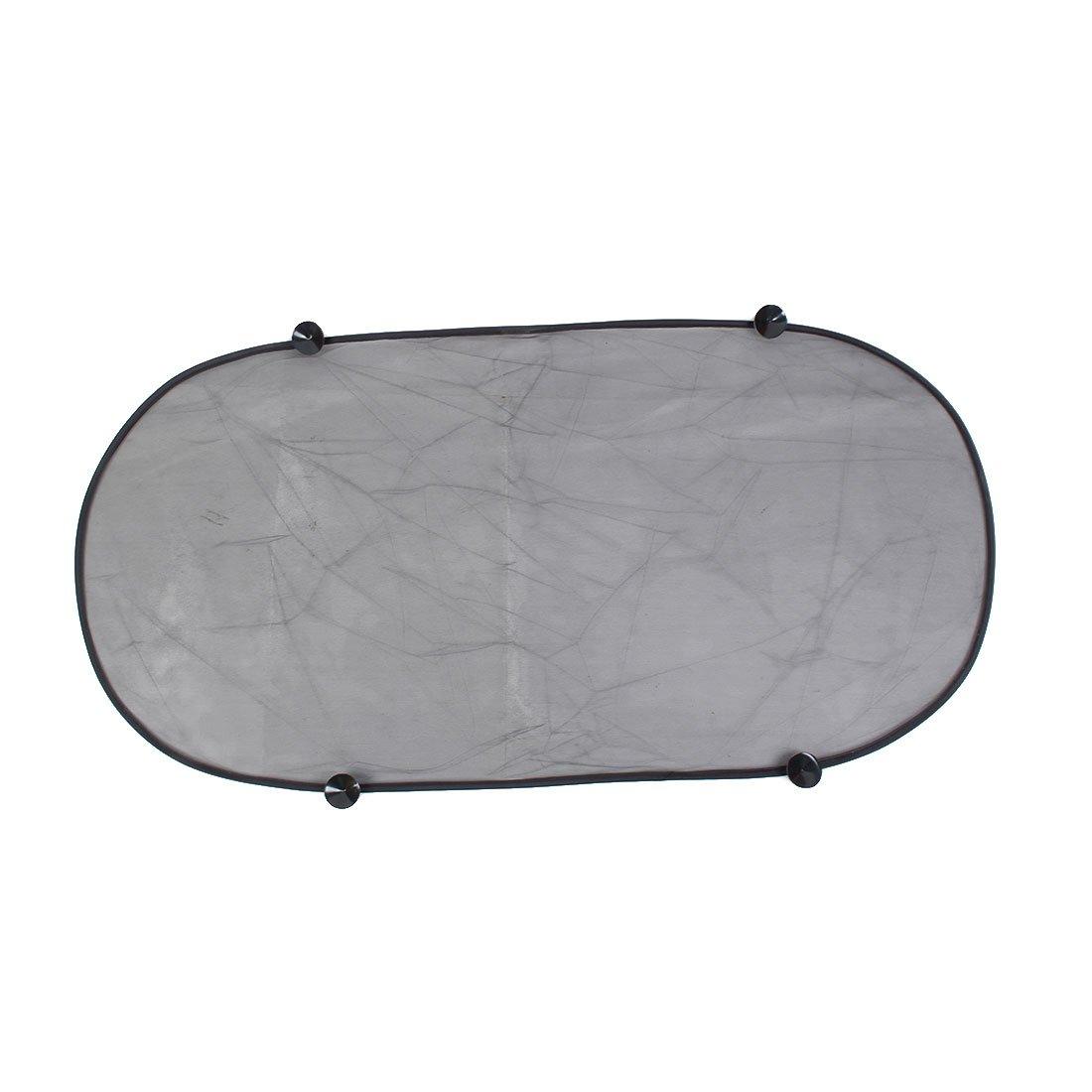 Uxcell a16012700ux0568 Folding Mesh Car Rear Windscreen Sun Visor Shade Sunshade 100cm x 50cm Black