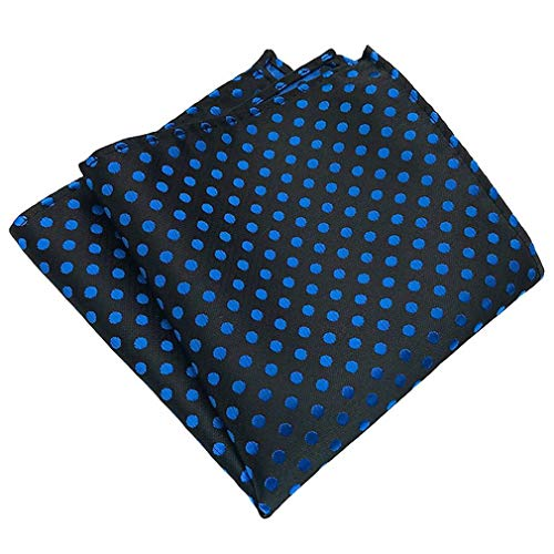 Dot Handkerchief Pocket Dot COMVIP Polka Royal Hanky Suit Polyester Blue Men's Square nAPn0Sqg4