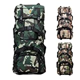 Winterjoys Outdoor Mountaineering Bag, 90L Outdoor Travel Backpack, Durable Nylon Camouflage Hiking Backpack Men's and Women's Backpack