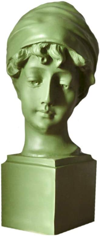 Statues Sculpture Figurines Statuettes,Creative Resin Light Green British Girl Wear A Hat Girl Abstract Character Sculpture Collectible,Ornaments Desktop Crafts Art Décor Statuettes For Indoor Livi