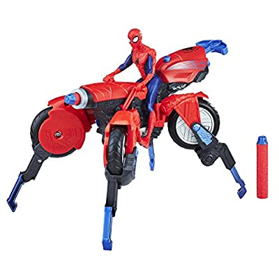 Marvel Spider-Man 3-in-1 Spider Cycle with Spider-Man Figure: Toys & Games