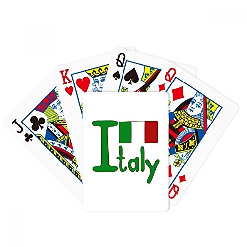 Italy National Flag Green Pattern Poker Playing Card Tabletop Board Game Gift by beatChong