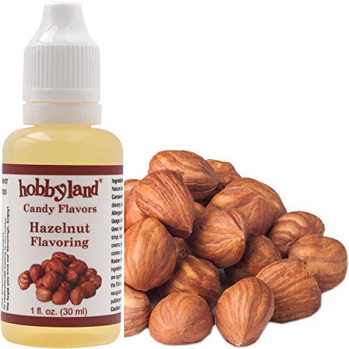 Hobbyland Candy Flavors (Hazelnut Flavoring, 1 Fl Oz), Hazelnut Concentrated Flavor Drops