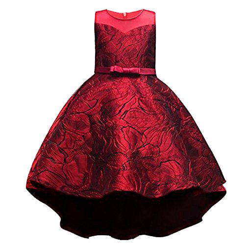 Costume Stores Baton Rouge (Kids Clothing Elegant Hand Beading Girls Dresses for Children Princess Party Costumes 3-10 Years,Wine)