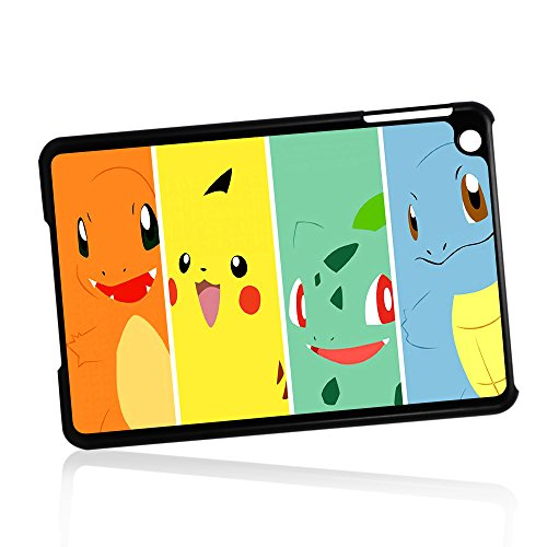 ( For iPad Mini 1/2/3, Generation 1 2 3) Phone Case Back Cover - HOT10855 Pokemon Pikachu BULBASAUR SQUIRTLE charmander by Pinky Beauty Australia