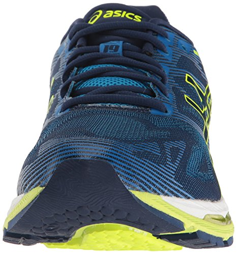 ASICS Herren Gel-Nimbus 19 Laufschuh Indigo Blue / Sicherheitsgelb / Electric Blue