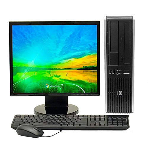 HP Elite Computer, C2D 3.0, New 4GB, 160GB, DVDRW, WiFi, 17-inch Monitor LCD (Certified Refurbished)