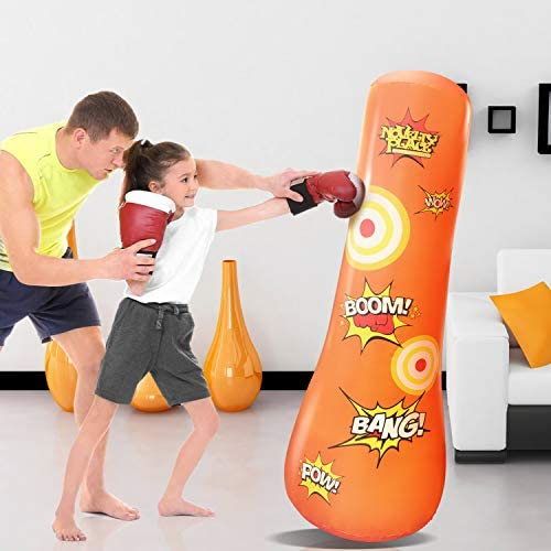 Free Standing Socker Bopper Buddy Novelty Place Kid/'s Inflatable Punching Bag
