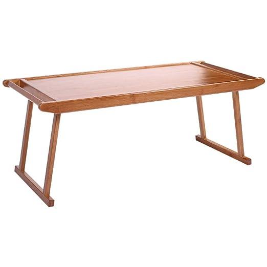 Mesa de Cama Escritorio Bandeja de Sofá Bambú Hogar Computadora ...