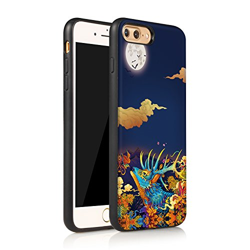 Meimeiwu Hohe Qualität TPU+PC+PU 3D muster Handyhülle Muster Case Cover Schutzhülle für iPhone 7 Plus - Hirsch