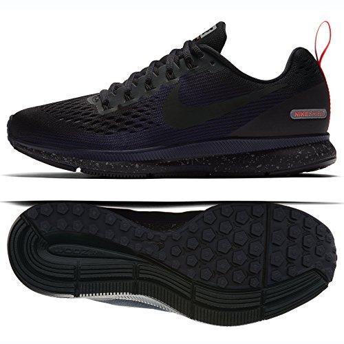 Nike Women's Air Zoom Pegasus 34 Running Shield Shoe Black/Black-Black-Obsidian 8.0