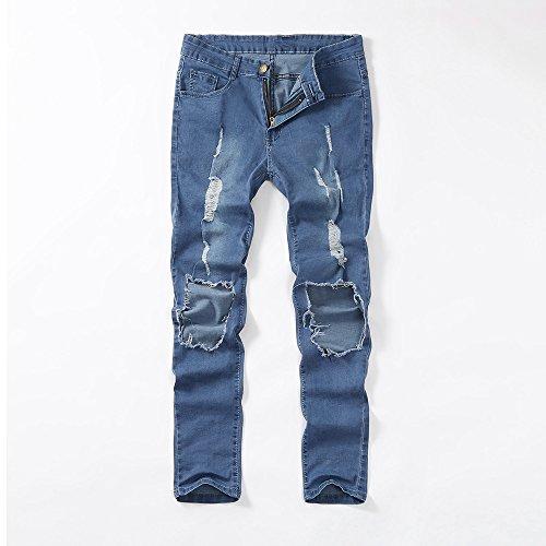 Décontracté À Pieds Jean Amuster Rétro Élastique Slim Bleu Petits Avec Pantalon Hommes Homme En Séchage 7x88ZXwUq