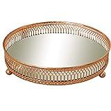 Melody Maison Ornate Copper Mirrored Tray 20cm x 20cm