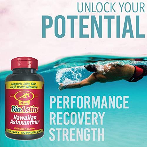 BioAstin Hawaiian Astaxanthin 4mg 120 Count  Hawaiian Grown Premium Antioxidant  Supports Recovery