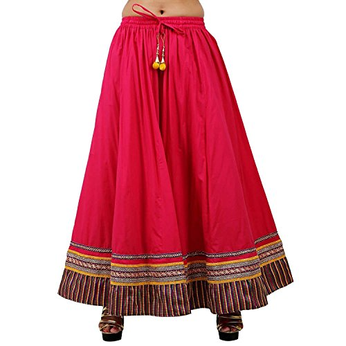 Skirt Cotton Solid Pink Indian Export Handicrfats Mesmerising IwYYXt