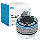 water shower speaker - Bluetooth Shower Speaker by Johns Avenue. Waterproof - Wireless - Portable Speaker with Strong Suction Cup and LED Mood Lights. Besides It Being the Best Waterproof Bluetooth Shower Speaker for 2020,