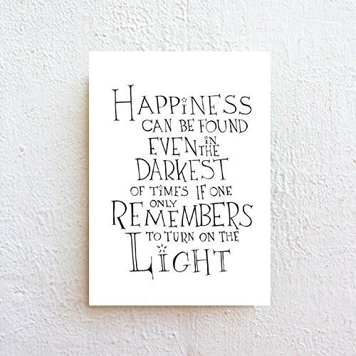 picture regarding Printable Harry Potter Quotes named Pleasure Can Be Identified - Harry Potter Estimate, Black And White Typography Print Upon Great Artwork Paper