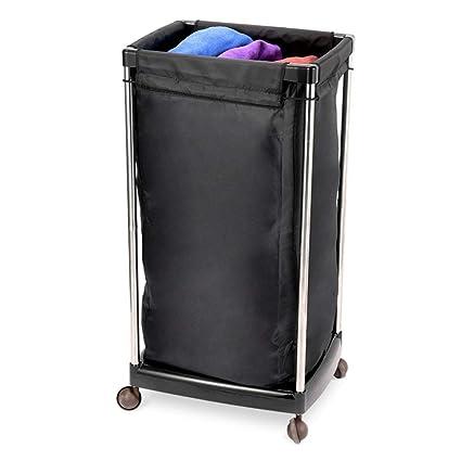 Amazon.com: WQTROLLEY - Cesta para la ropa sucia de salón de ...