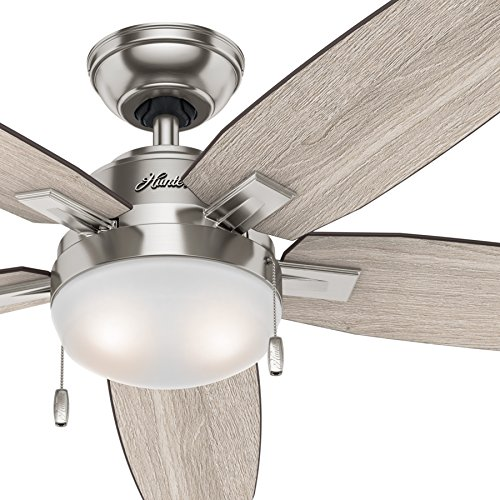 nickel brushed ceiling fan - 1