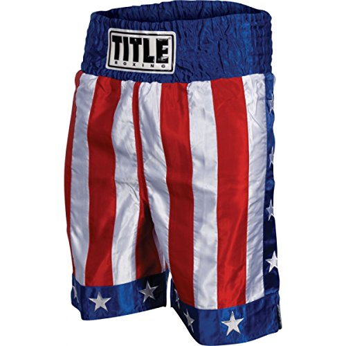 TITLE American Flag Boxing Trunks