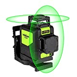 Levelsure Self-Leveling 360 Laser Level - Mute 902CG Green Beam 150 Ft Vertical Horizontal Line with Magnetic Pivoting Base, 2 Full-time Pulse Modes