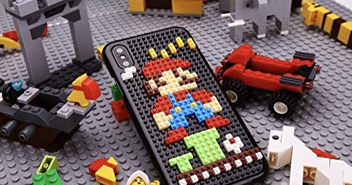 DIY MINI BUILDING BLOCKS CASES FOR IPHONE X (Red Mushroom Man)