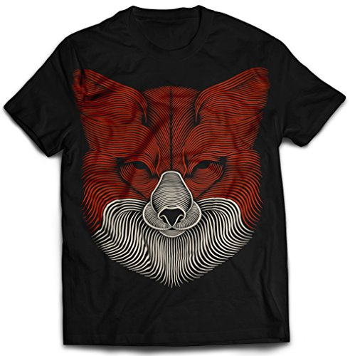 fox-3d-touchable-puff-printed-creative-mens-black-cotton-t-shirt-stand-out-small