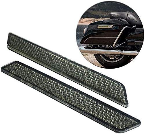 Gaetooely Reflectores para Street Glide Electra Glide Road Glide Road King Alforjas con Cubiertas de Alforjas Visibilidad Lateral 2014-2020 Negro